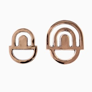 Bronzino Couple Hooks by Alessandro Zambelli for Portego, Set of 2