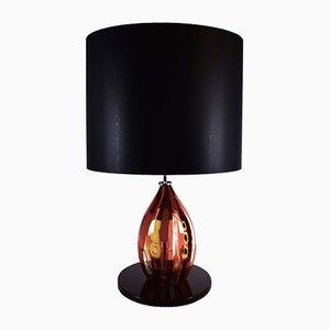 Lampada da tavolo Murrine rossa di Eros Raffael