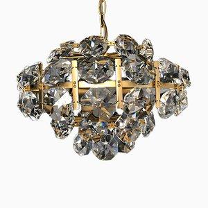 Lámpara de araña de cristal de Bakalowits, años 60