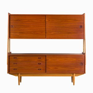 Mid-Century Teak & Oak Highboard from Skovby, 1960s