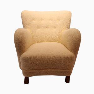 Sheep Wool Easy Chair, 1930s