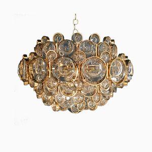 Lámpara de araña Mid-Century de latón de Palwa, años 70