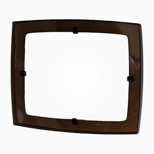 Spiegel mit Rahmen aus Rauch-Plexiglas, 1970er