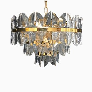 Ice Glass Chandelier by JT Kalmar for Kalmar Franken, 1970s