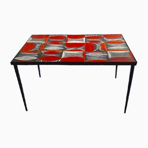 Table en Céramique par Robert and Jean Cloutier, 1950's