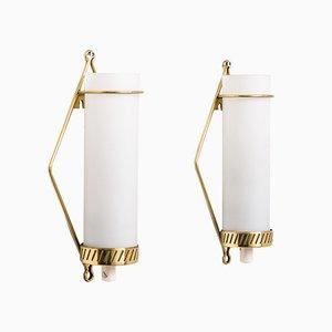 Lámparas de pared escandinavas modernas de Maria Lindeman para Idman, años 40. Juego de 2