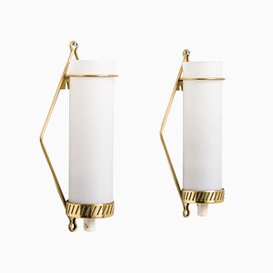 Moderne skandinavische Wandlampen von Maria Lindeman für Idman, 1950er, 2er Set