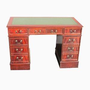 Podest-Schreibtisch aus Mahagoni & Leder, 1960er