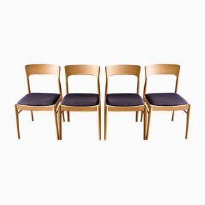 Dänische Esszimmerstühle aus Eichenholz von Kai Kristiansen für Korup Stolefabrik, 1960er, 4er Set