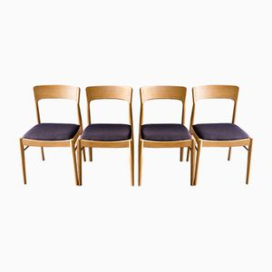 Danish Oak Dining Chairs from Kai Kristiansen for Korup Stolefabrik, 1960s, Set of 4