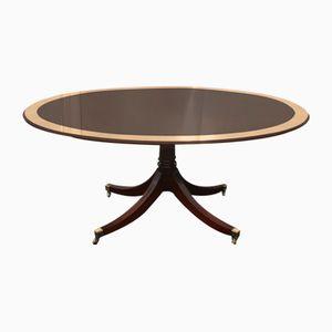 Mesa de comedor ovalada de caoba, años 60