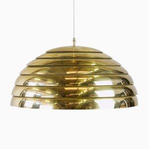 Vintage Brass Dome Pendant Lamp by Florian Schulz