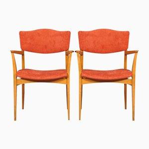 Deutsche Mid-Century Stühle,1970er, 2er Set