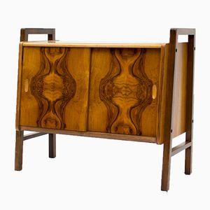 Mueble para vinilos o bebidas de nogal, años 50