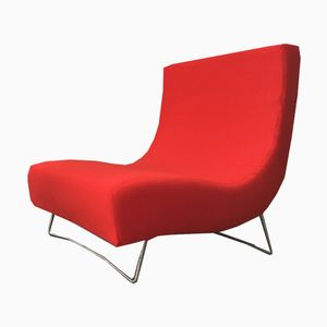 Vintage Red Lover Sofa by Pascal Mourgue for Ligne Roset