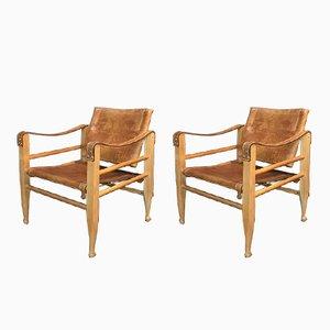 Safari Chairs von Børge Mogensen für Aage Bruun & Son, 1950er, 2er Set