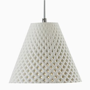 White Concrete Helia Pendant Lamp by Dror Kaspi for Ardoma Design
