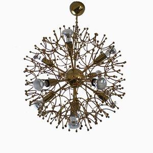 Lámpara de araña Sputnik de Gaetano Sciolari, años 60