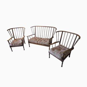 Vintage Bench & 2 Armchairs