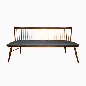 Vintage Upholstered Bench, 1960s