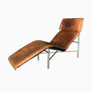 Sillón vintage de cuero coñac de Tord Bjorklund para Ikea