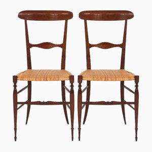 Mid-Century Chiavari Dining Chairs by Colombo Sanguineti, 1950s, Set of 2