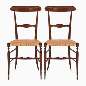 Mid-Century Chiavari Dining Chairs by Colombo Sanguineti, 1950s, Set of 2