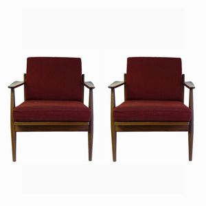Danish Teak Lounge Chairs, 1960s, Set of 2