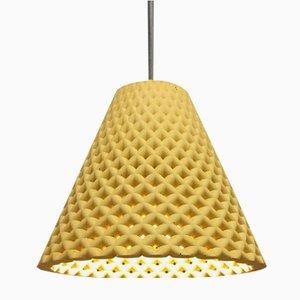 Lampada Helia gialla in calcestruzzo di Dror Kaspi per Ardoma Design