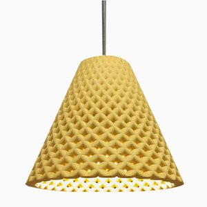 Lampe à Suspension Helia en Béton Jaune par Dror Kaspi pour Ardoma Design