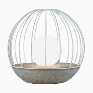 Lampada da tavolo Sfera della serie Ova con gabbia in metallo verde di Dror Kaspi per Ardoma Design