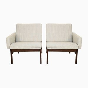 Rosewood Easy Chairs by Ole Gjerløv Knudsen & Torben Lind for France & Søn, 1960s, Set of 2