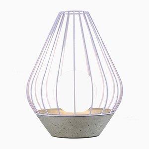 Diamond Tischlampe aus der Ova Serie mit violettem Metallkäfig von Dror Kaspi für Ardoma Design