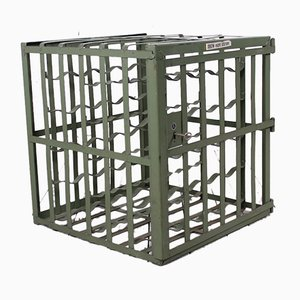 Industrial Wine Cage from L & C Arnold Metal, 1950s