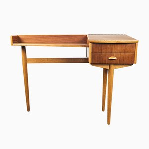 Danish Teak & Oak Console Table, 1960s