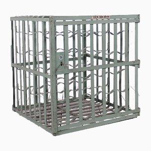 Cage à Vin Industrielle de L & C Arnold Metal, 1950s