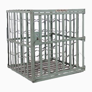 Industrial Metal Wine Cage from L & C Arnold, 1950s