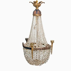 Antique Tent and Bag Chandelier