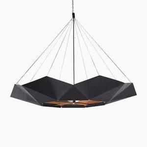 Lámpara colgante ajustable inMOOV negra de Studio Nina Lieven
