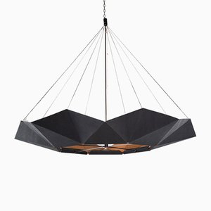 Lampe à Suspension Ajustable inMOOV Noire par Studio Nina Lieven