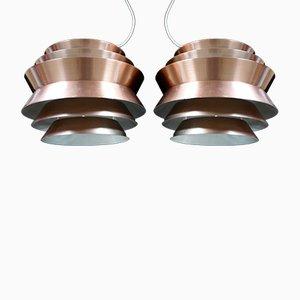 Vintage Trava Pendants by Carl Thore for Granhaga Metallindustri, Set of 2