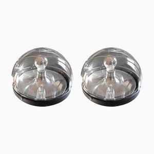 Kugelförmige Vintage Lampen, 2er Set