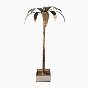High Palmera Floor Lamp in Brass by Antique Boutique