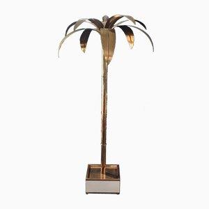 Hohe Palmera Stehlampe aus Messing von Antique Boutique