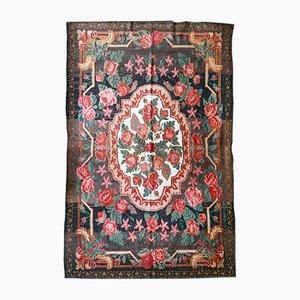 Vintage Flat-Weave Rose Kilim Rug