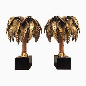 Lampade da tavolo a forma di palma di Maison Jansen, anni '70, set di 2