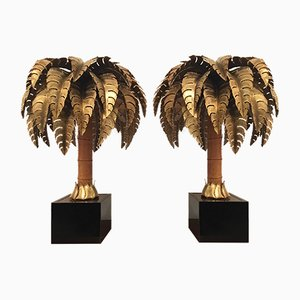 Palm Tree Table Lamps from Maison Jansen, 1970s, Set of 2