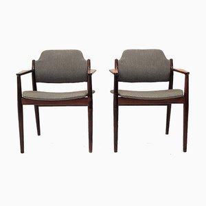 62A Armlehnstühle aus Palisander von Arne Vodder für Sibast, 1960er, 2er Set