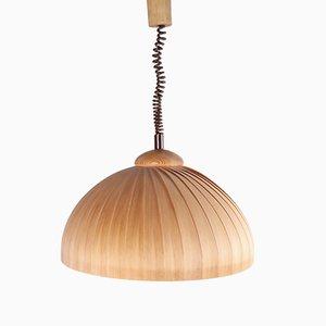 Lámpara sueca de madera, años 60