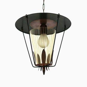 Lámpara colgante de linterna, años 50